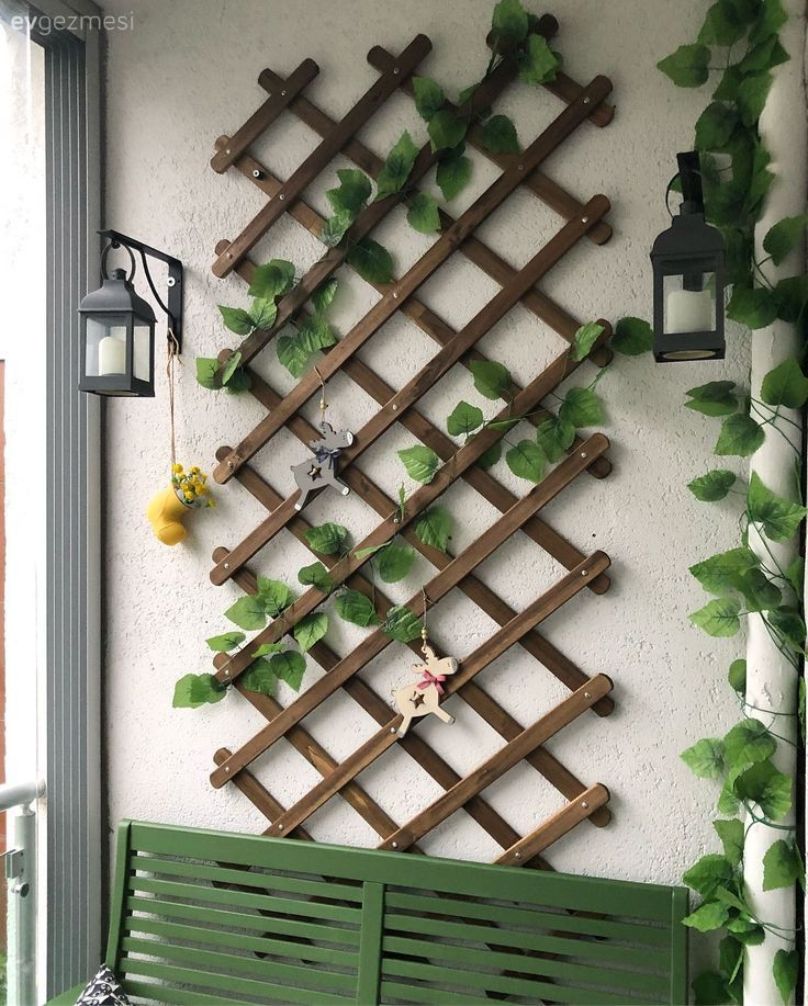 Balcony Balcony Wall Decoration Ivy Wall Decoration Goruntuler