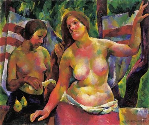 Combing (Woman Combing, The Artist's Wife) - Vilmos Aba-Novak