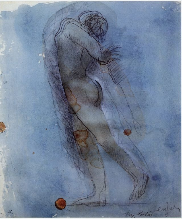 Auguste Rodin - Hell - pencil and watercolor c.1900-1908
