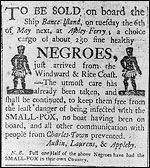 Photograph of newspaper advertisement from the 1780s  The history of African American in the US, very informative and interesting.