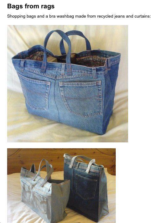zelf eenvoudig (als je tenmiste een beetje handig bent) een stoere tas maken.