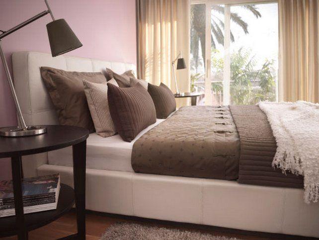 Bedroom decoration, warm colours