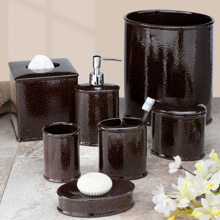 Crackle Bath Accessory Collection   Overstock  Shopping   The Best Prices on Bathroom Accessory Sets. 78  images about Steamboat Bathroom on Pinterest   Toothbrush