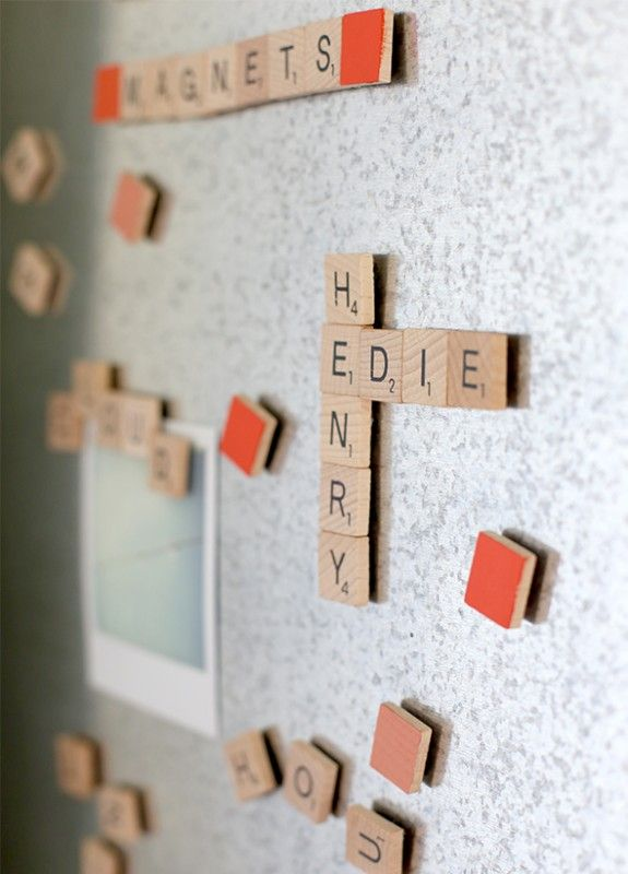 DIY: scrabble magnets