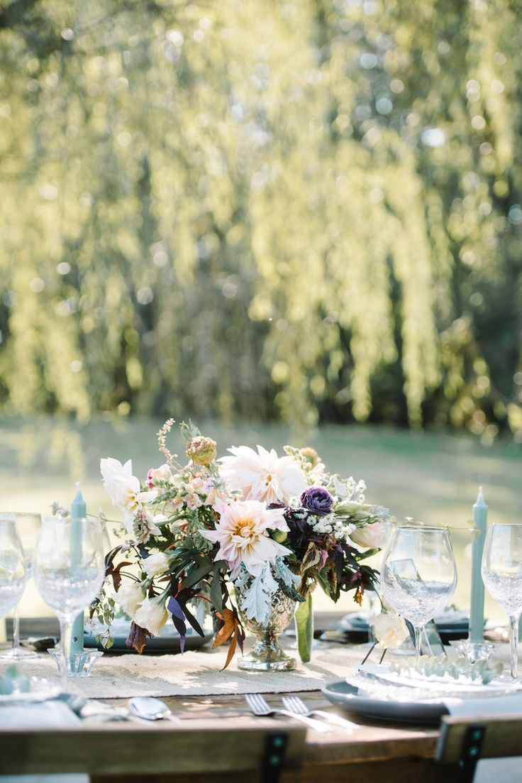 Under the willow tree. Private estate wedding inspiration // farmhouse tables: holmespun co. // planning: love and lace weddings // photography: AGP Collective // florals: the farm at oxford