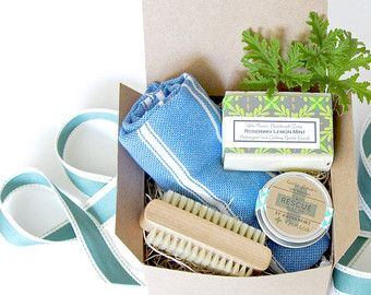 Small Spa Gift Set Bath & Beauty Natural Lip by LittleFlowerSoapCo