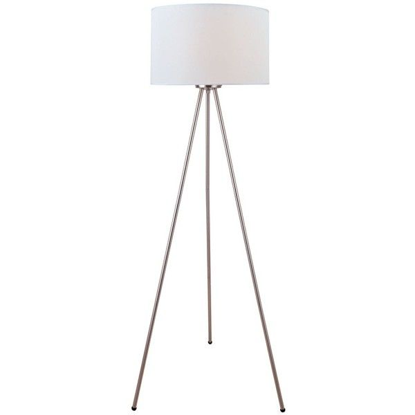 Fresh Lambert Three Legged Lamp STEEL WHITE liked on Polyvore featuring home