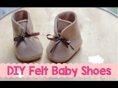 DIY Felt Baby Boots Shoes - Membuat Sepatu Boot Bayi - YouTube