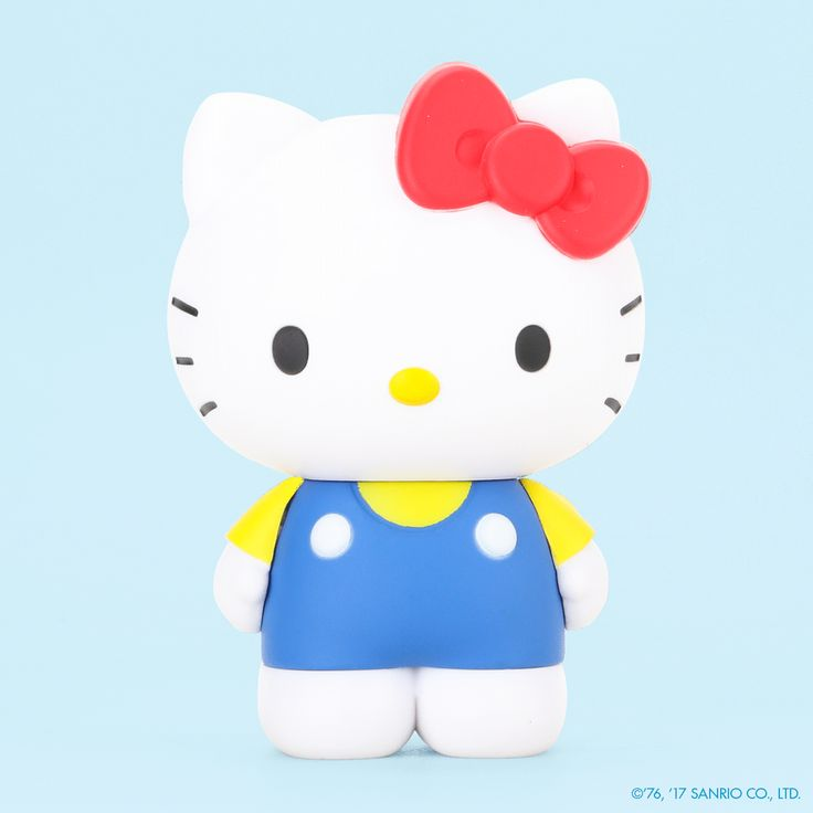 Perfect for your collection, this Hello Kitty figurine features Hello Kitty in her traditional blue jumper with pose-able arms and head. You can switch out her arms to go from holding the apple to her arms at her side.