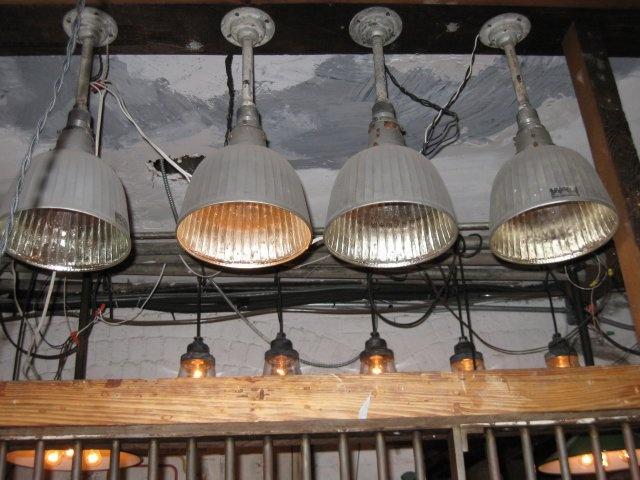 Early Benjamin Light Fixture (#71678)Pittsburgh Mercury Glass Shade