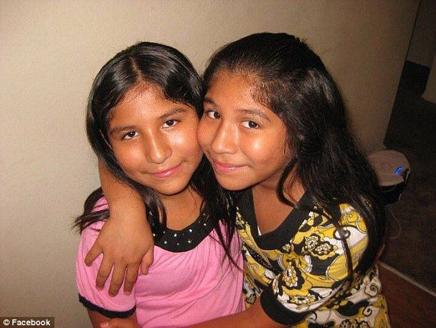 Victims: Twins Lexi Perez and Alexandra Perez, 13, were run down and killed by a hit-and-run driver while out trick-or-treating in Santa Ana, Southern California, on Friday night