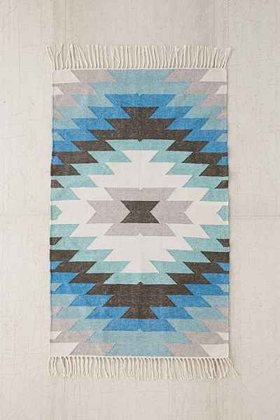 Faded kilim indoor outdoor woven rug urban outfitters for Woven vinyl outdoor rugs