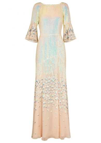 2ac198520 Temperley Celestial sequinned chiffon gown - Harvey Nichols | clothes to  copy | Chiffon gown, Sequin gown, Sequin evening dresses