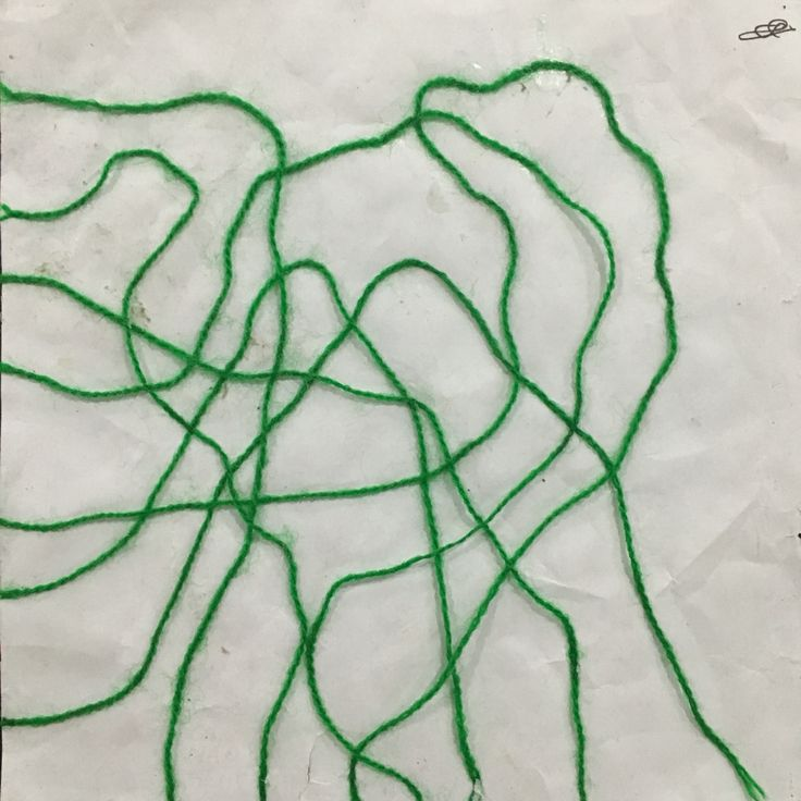 Basic Lines #green #wool #basic #abstract