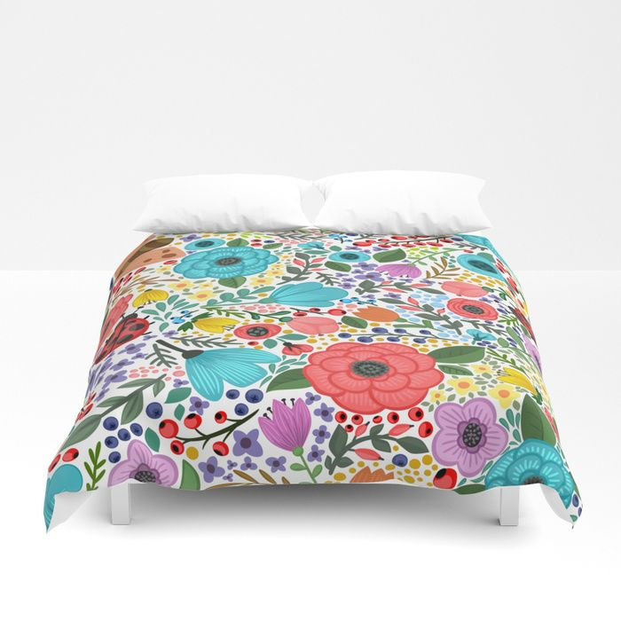 Buy Ladybug Madness Duvet Cover by mahnoorshafaat. Worldwide shipping available at Society6.com. Just one of millions of high quality products available.