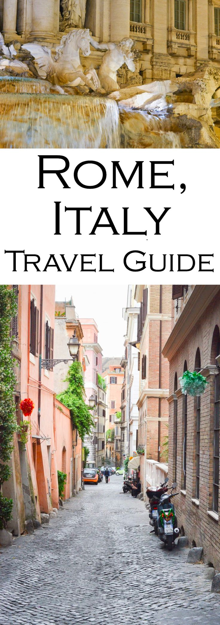 Roam the alleys of Rome, Italy in this photo guide to what to do in Rome on your next holiday. Visit Trevi Fountain, walk the ruins of the Parthenon, and eat spoonfuls of gelato!