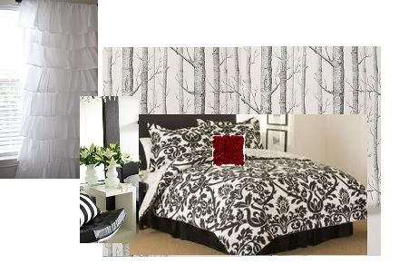 This is my INSPIRATION BOARD for our bedroom.  Bedding done - wallpaper for feature wall located - everything else to go!: Bedrooms 1 Jpg Photo, Features Wall, Interiors Design, Inspiration Boards, Bad Tasting, Wall Locations, Bedrooms 1 Jpg Pictures, Feature Walls, Free Image