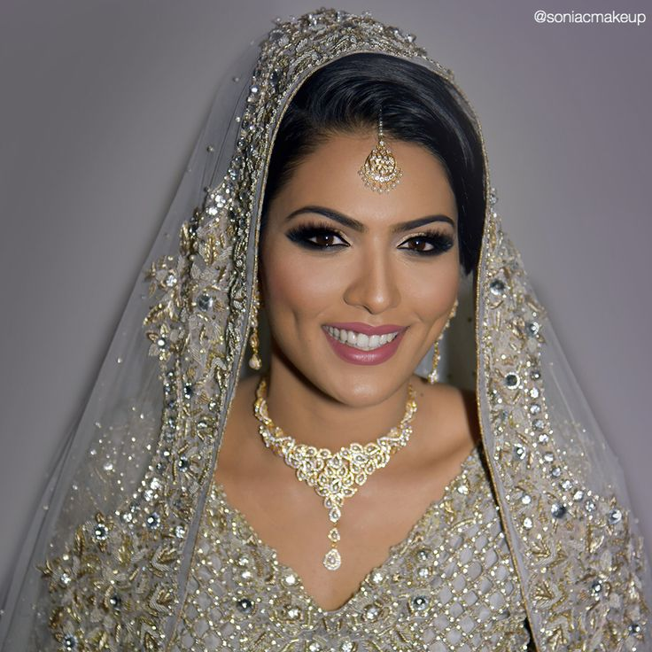 Pakistani bridal makeup, Indian bridal Makeup, pakistani bride, smoky eye, Lebanese bride