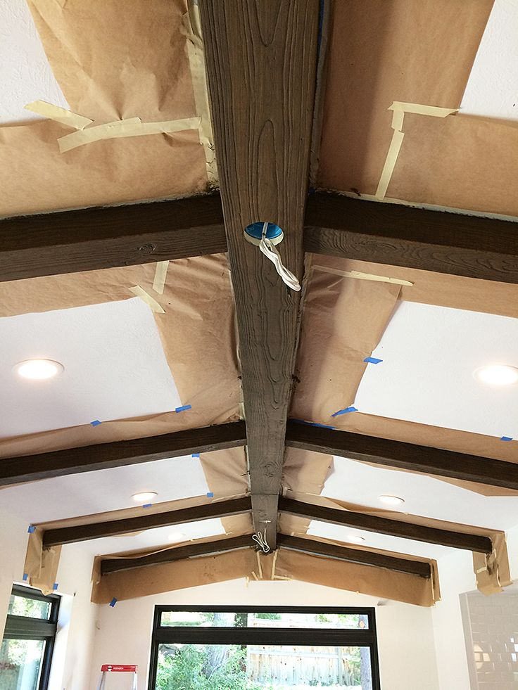 Fake Ceiling Beams ~ Beams wood ceiling and faux on pinterest