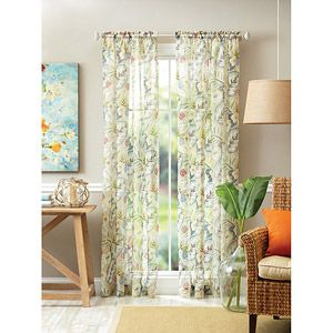 Better Homes And Gardens Tropical Floral Semi Sheer Curtain Panel