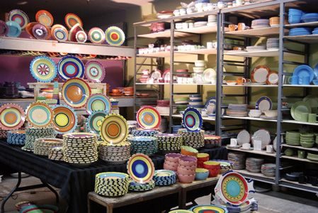 American made dinnerware from HF Coors Factory Store, Tucson AZ.  I can see these dishes mixed in with Fiestaware.