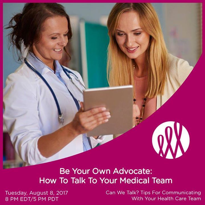Join us for our upcoming webinar as Dr. Noam Drazin a well-known Oncologist from Cedar Sinai Medical Group empowers you to advocate for yourself when discussing your individual concerns with your health care team including screening fertility fear of recurrence new research clinical trials and immunotherapy. Please comment below and share your tips on how you successfully communicate with your doctor. This webinar was made possible by Merck. For more information please contact Shira Kravitz…