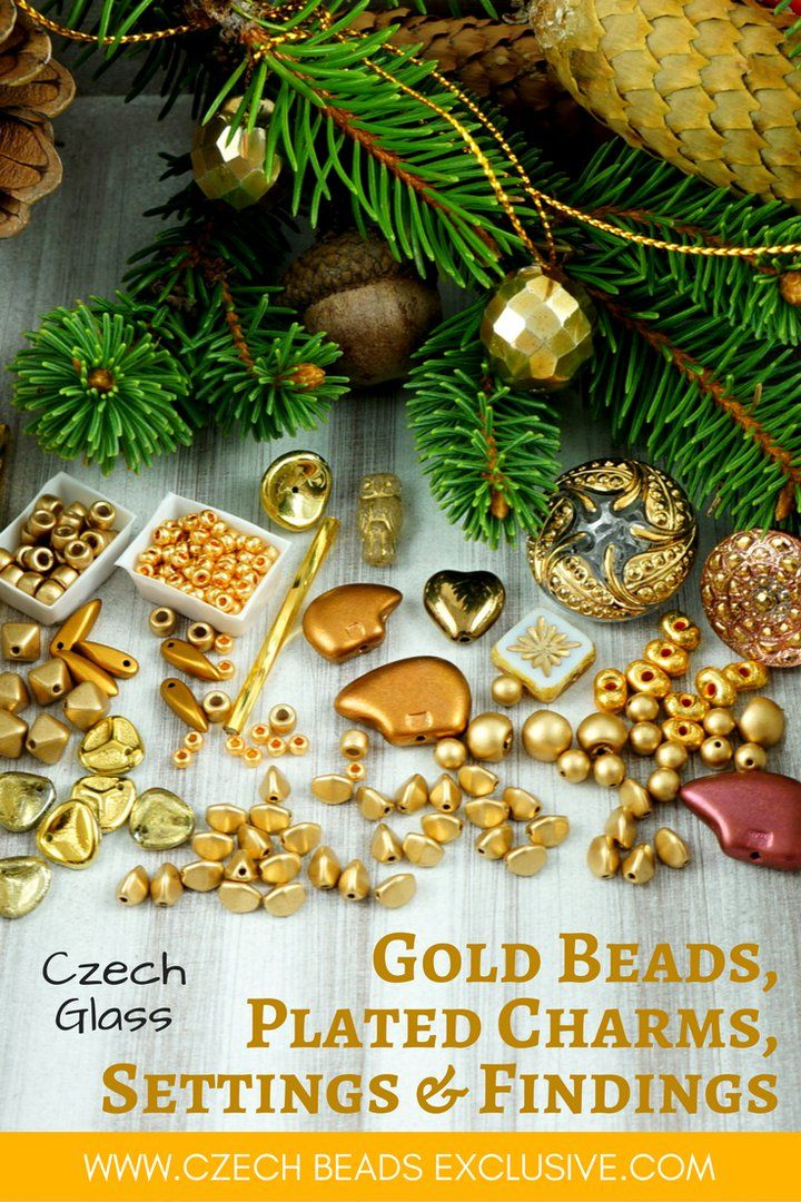 Czech Glass Gold Beads, Plated Charms, Settings and Findings �Different Shapes & Findings!�The largest collection of gold beads - more than 1900 gold beads in stock! - Buy now with discount!  Hurry up - sold out very fast! www.CzechBeadsExclusive.com/+gold SAVE them! ??Lowest price from manufacturer! Get free gift! 1 shipping costs - unlimited order quantity!  Worldwide super fast ?? shipping with tracking number! Get high wholesale discounts! Sold with  at http://www.CzechBeadsExclusive.com…