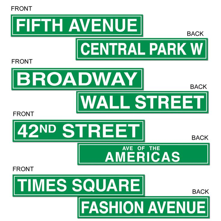 Nyc Street Sign Cutouts                                                                                                                                                                                 More