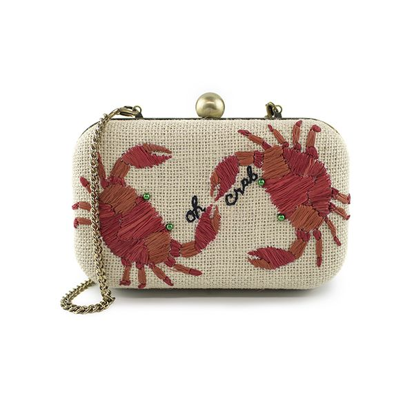 Oh Crab raffia/Straw clutch bag | 100% Vegan Handbags | 100% Cute, Fun, and Whimsical | Chelsi Reis | Accessories | Beach & Travel