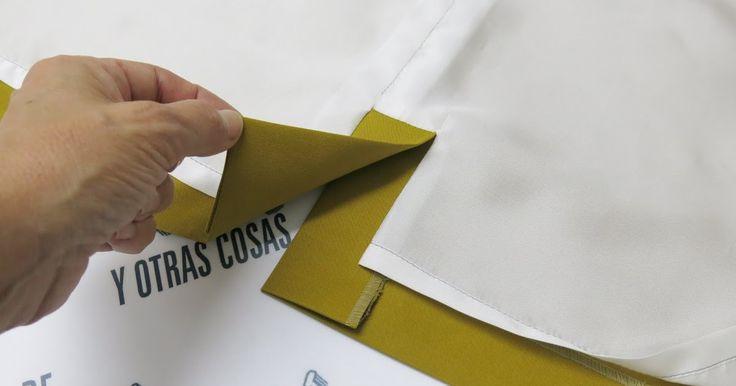Segundo post sobre aberturas de faldas forradas.   Esta vez veremos como forrar una  abertura montada con vista añadida.