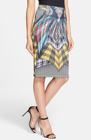 Clover Canyon 'Flight of the Earls' Stretch Tube Skirt available at #Nordstrom