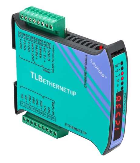 Digital weight transmitter RS485 Modbus RTU + ETHERNET/IP by Laumas Elettronica