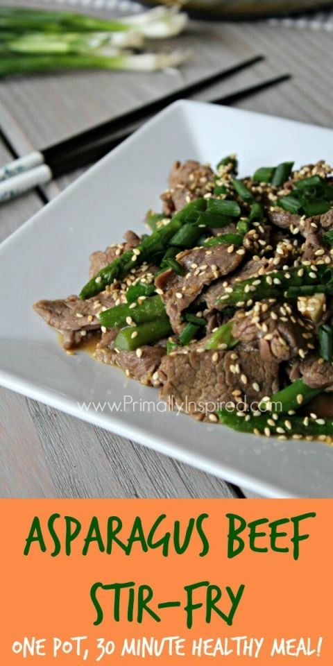 Asparagus Beef Stir Fry (30 Minute, One Pot Meal) | Recipe | Healthy ...