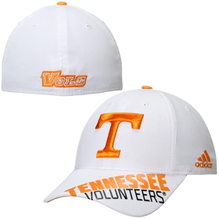 Tennessee Volunteers adidas 2014 Sideline Player Performance Flex Hat –  White, Tennessee Vols, Hat