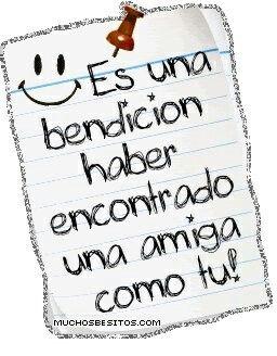 Gracias por tú amistad !!