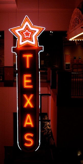 ~ TEXAS Neon Sign from the Texas movie theatre formerly owned by Howard Hughes...now at the Texas Historical Museum ~`