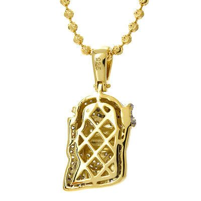 Gold Plated Mini Micro Hip Hop Iced Out Jesus Piece Chain And Pendant 14k Gold