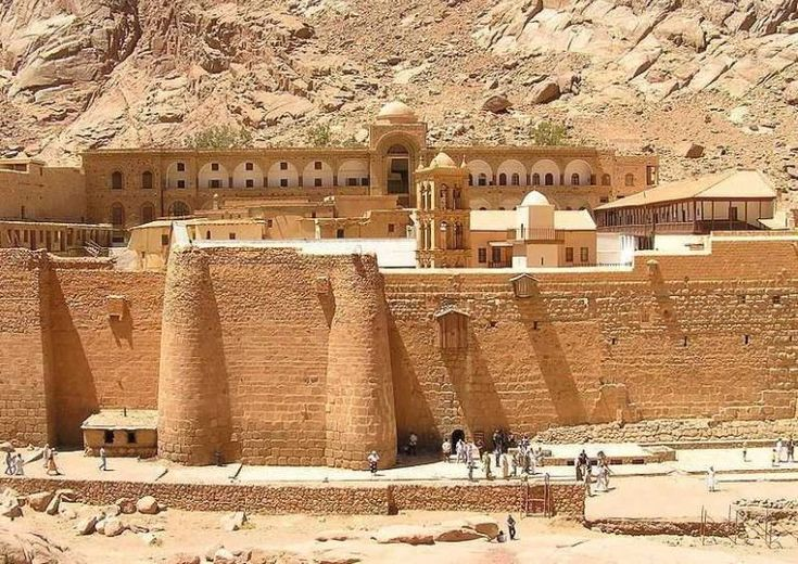 Behold the world's oldest continuously operating library - the 6th century Saint Catherine's Monastery in Sinai Peninsula, Egypt.