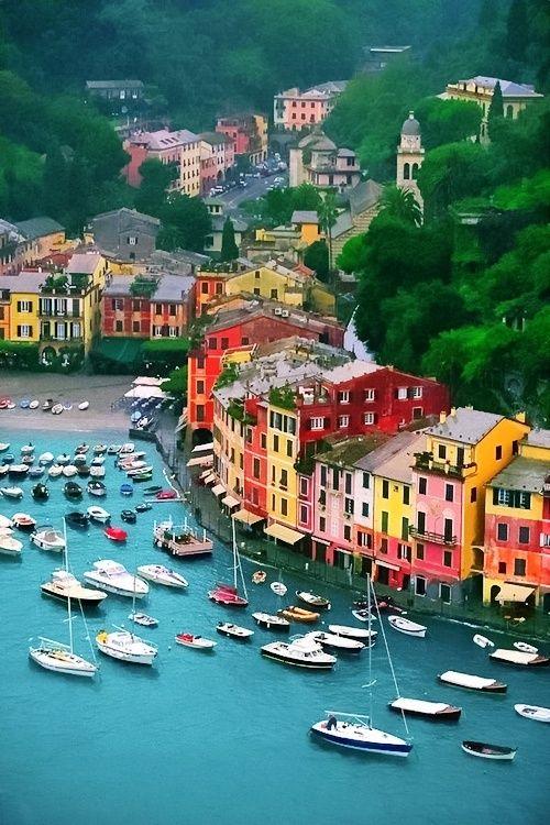 bluepueblo:  Harbor, Portofino, Italy photo via besttravelphotos