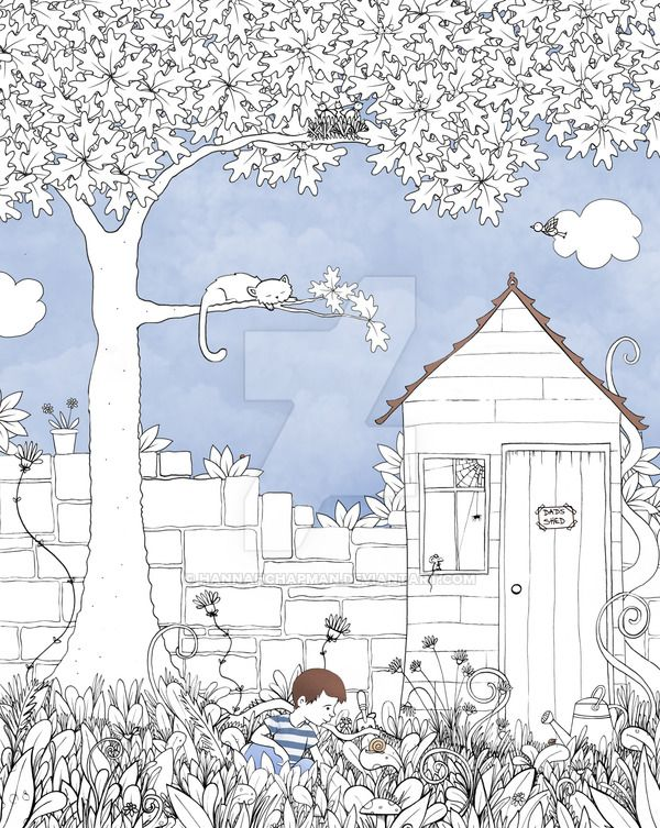 The Garden By Hannahchapman Adult Colouring Buildings