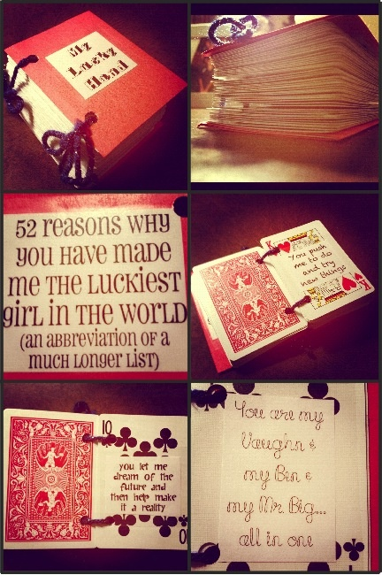 A book I created for my husband using playing cards! Happy Valentines Day Danny Liota!!!! :)