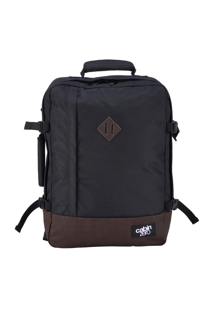 CabinZero Ultra-Light Massive Capacity Cabin Backpack - Vintage Black from Bagsdirect.com