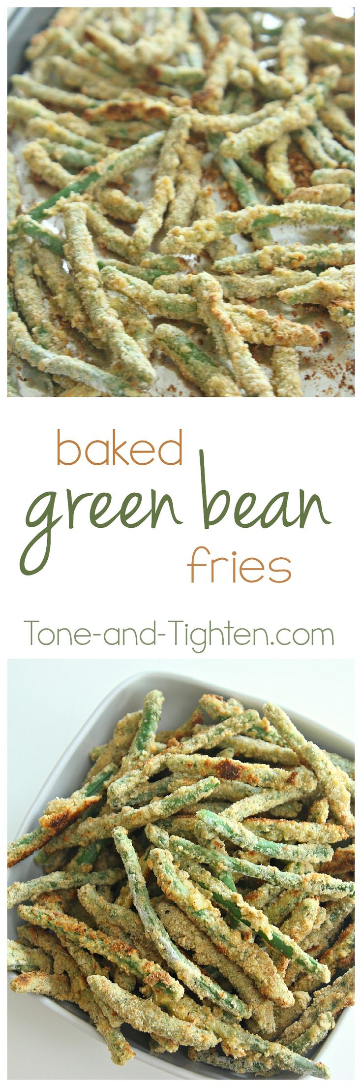 Oven Baked Green Bean Fries on Tone-and-Tighten