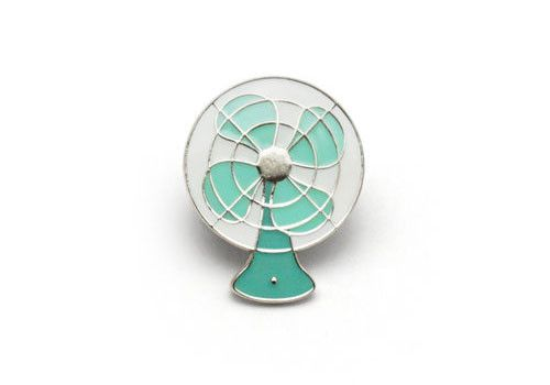 Be a super fan of this little vintage electric fan. It literally keeps you cool so you don't sweat it!