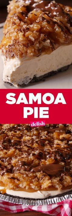 Samoa Pie is even better than the Girl Scout cookie. Get the recipe on Delish.com.
