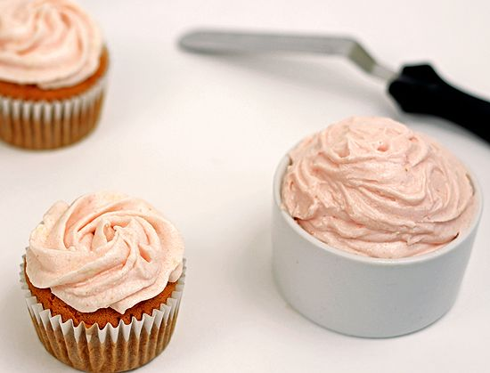 Guava Cupcakes with Whipped Guava Frosting - Plated with Style