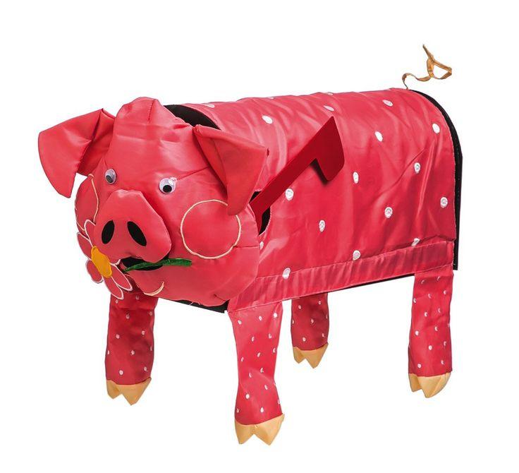 Evergreen 3D Pig Applique Mailbox Cover