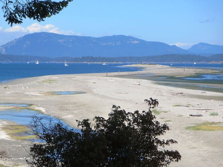 Sidney Spit is an extension of Sidney Island pointing northwest toward Saltspring Island, British Columbia, Canada.