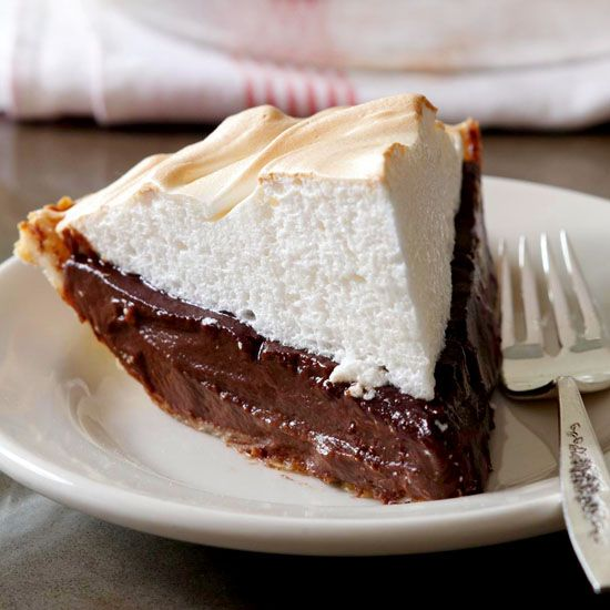 American Classics: Chocolate Meringue Pie. I hope this one is good. My grandmother used to make chocolates pies for birthdays.