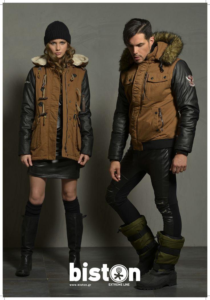 Ladies' jacket & Men's jacket. www.biston.gr